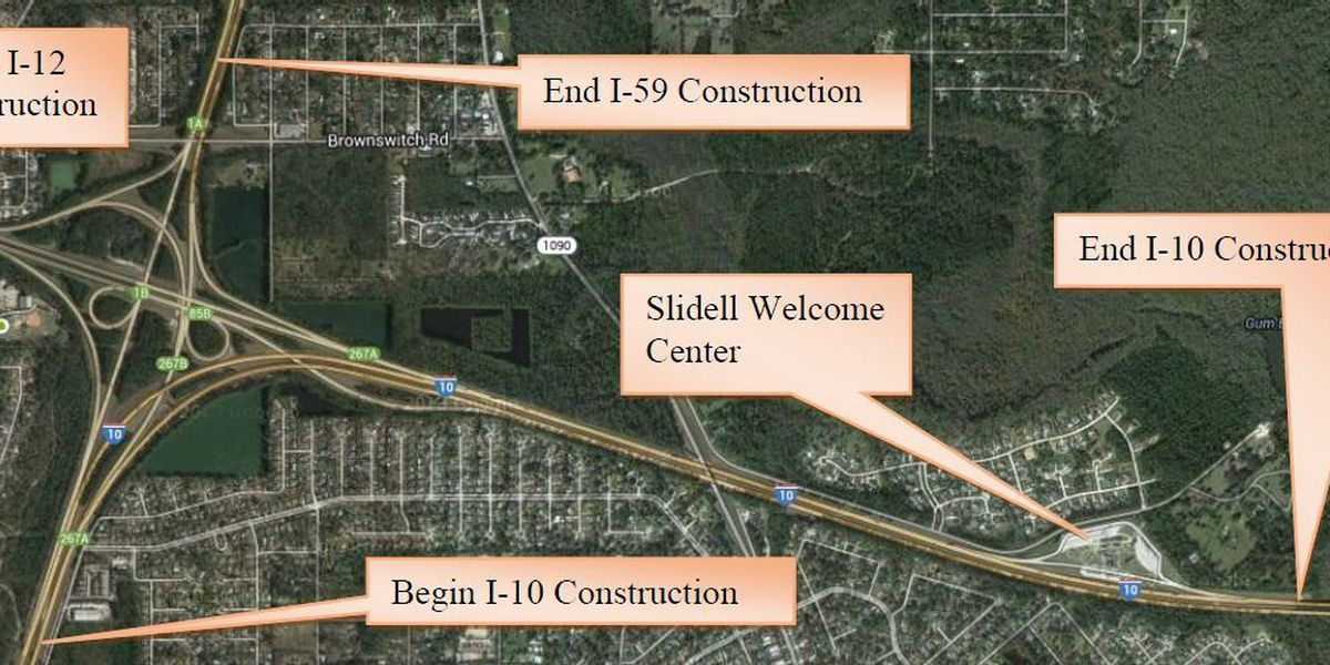 Slidell road work could cause delays for months