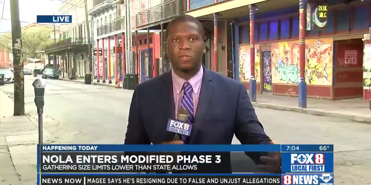 New Orleans moving to Phase 3 Friday