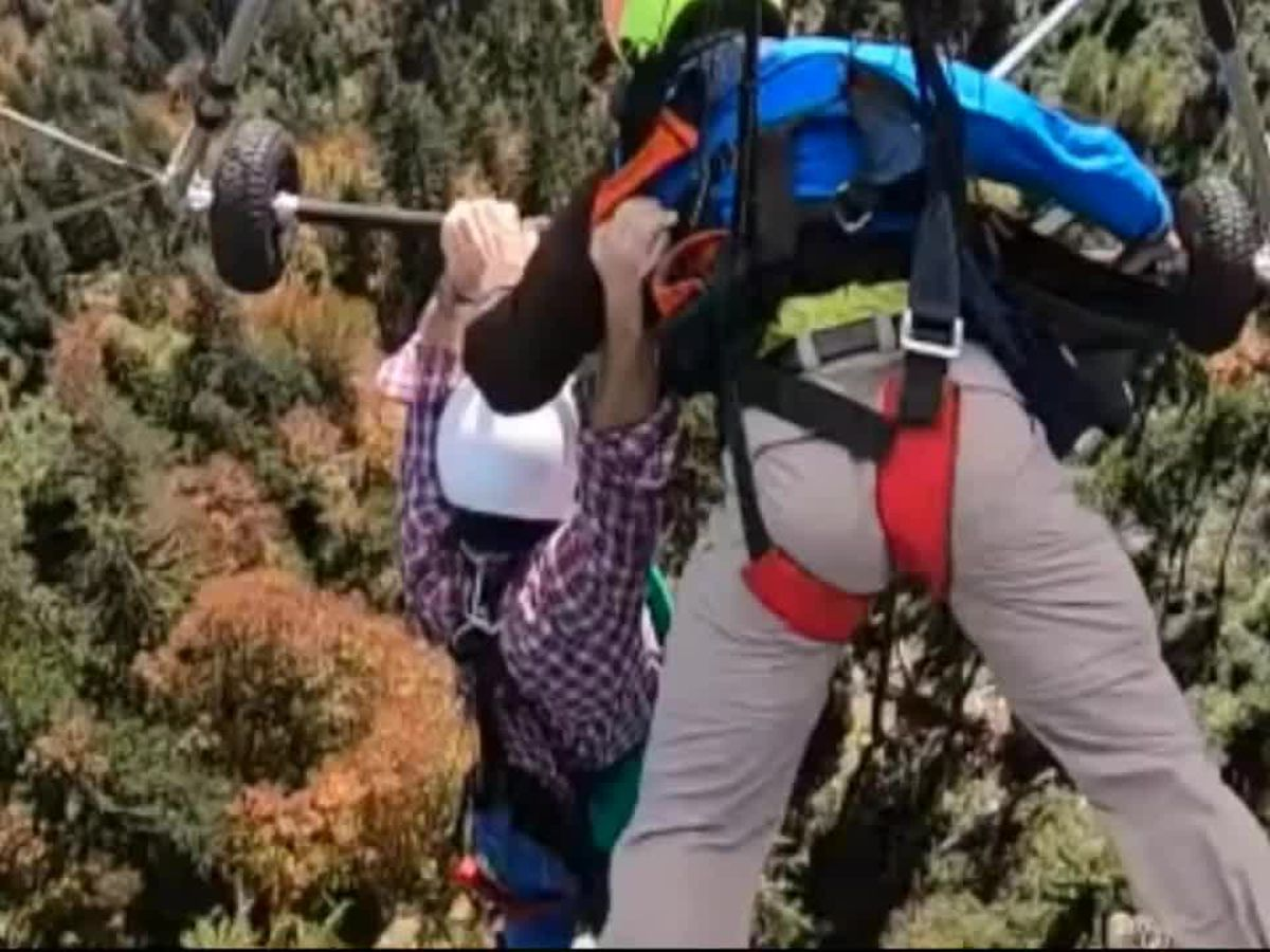 Florida man clings to hang-glider over Swiss mountains after pilot forgets to attach harness