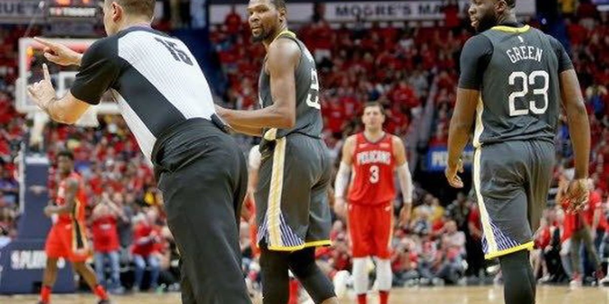 Pelicans fall to Warriors in Sunday's Game 4 of Western Conference semifinals