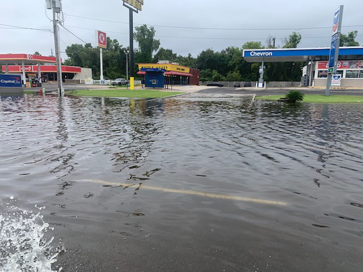 Coastal flooding prompts several road closures in St. John Parish