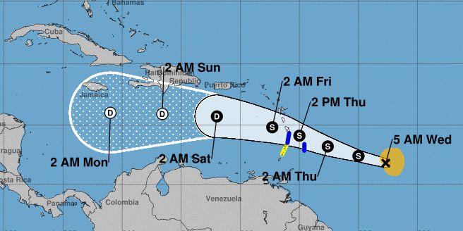 Tropical Storm Kirk reforms, strengthens slightly in Atlantic