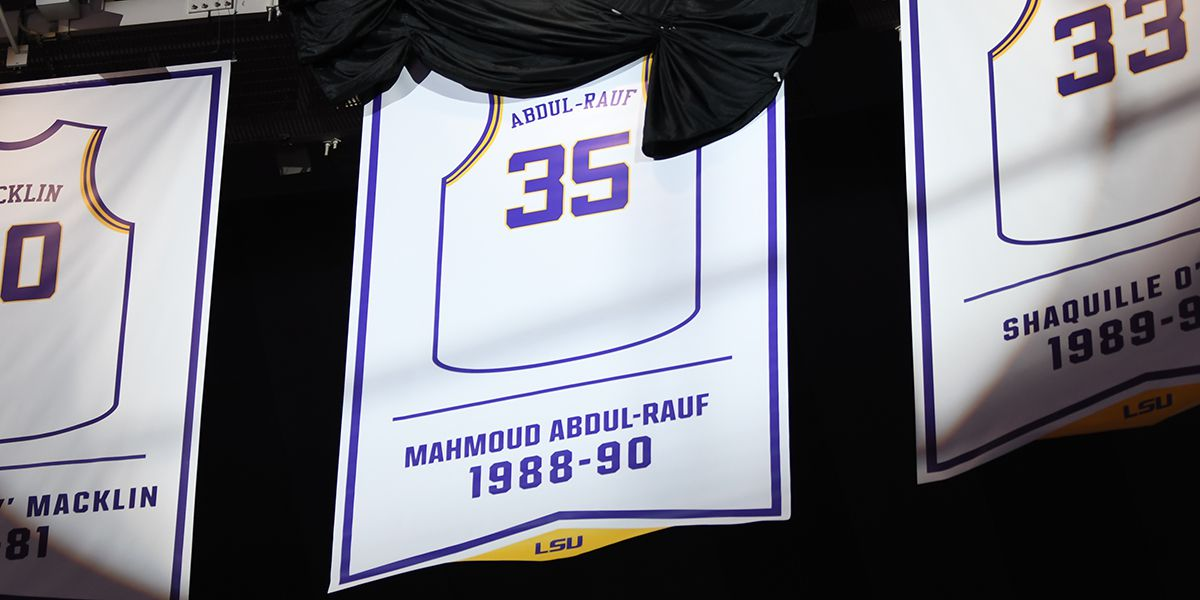 LSU retires Mahmoud Abdul-Rauf's No. 35 basketball jersey