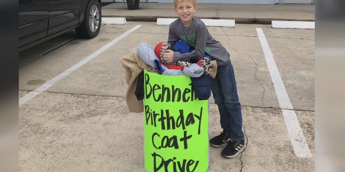 Shreveport kid turns birthday party into a coat drive