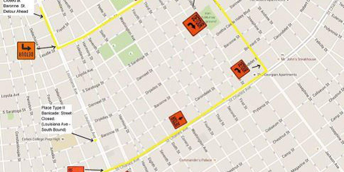 Louisiana Avenue traffic detour set for this weekend