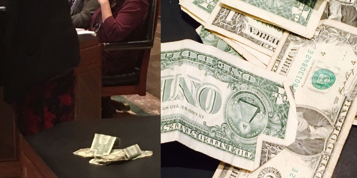 Lawmakers toss dollar bills over exotic dancer age limit