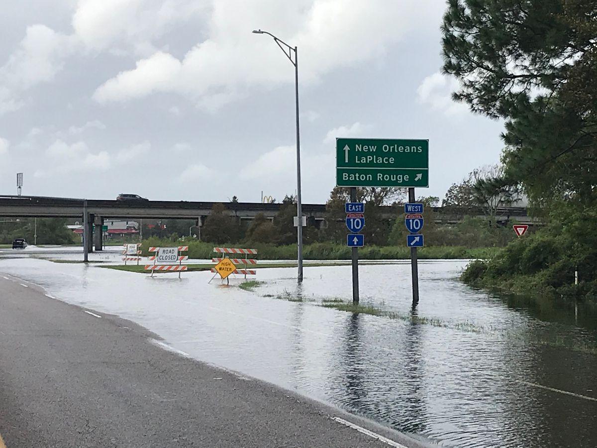 Flooding blocks interstate exchange