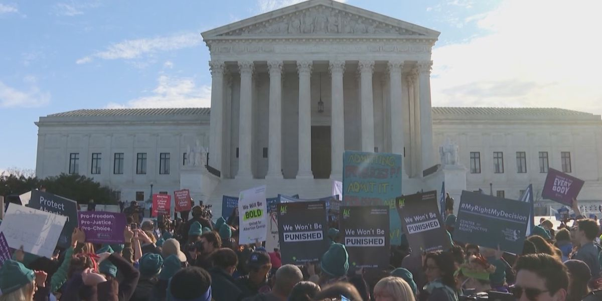 Locals react to the Supreme Court's hearing on Louisiana's abortion law
