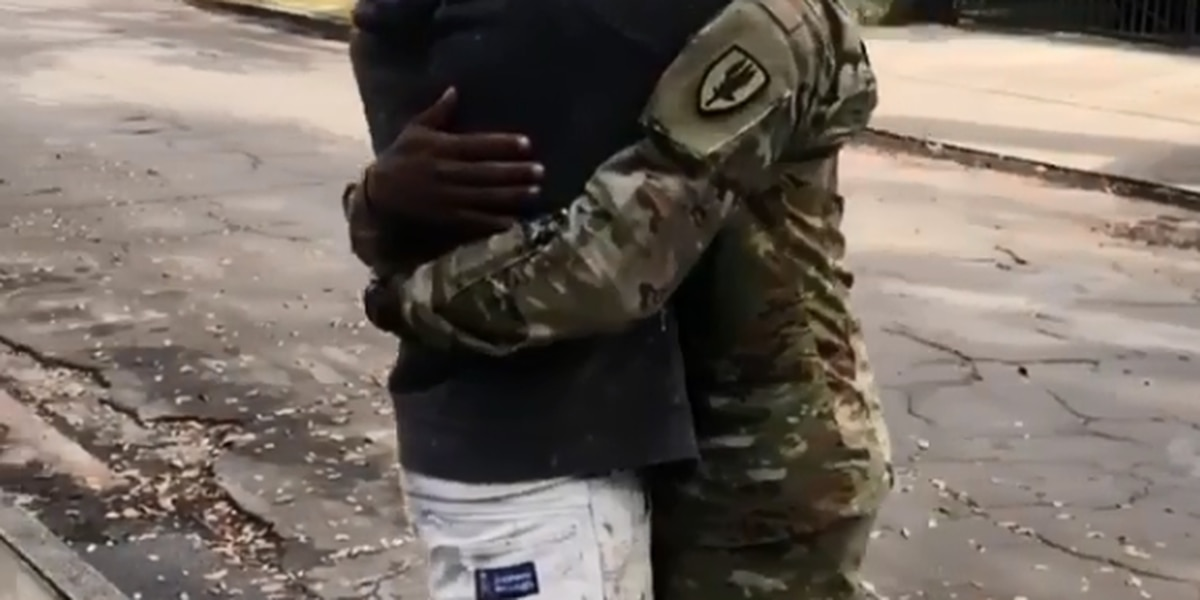 VIDEO: New Orleans soldier surprises father at work after 6 months away