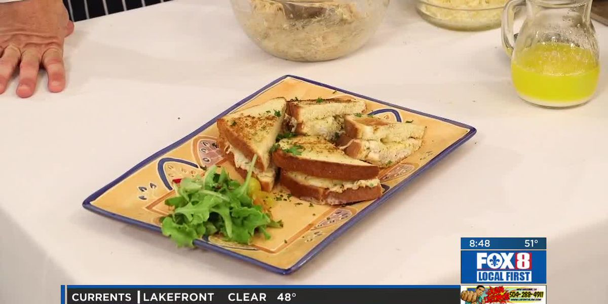 Chef Folse: Crab Grilled Cheese