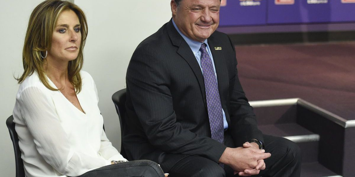 Coach Orgeron breaks down his best recruiting job ever, the courting of his wife Kelly