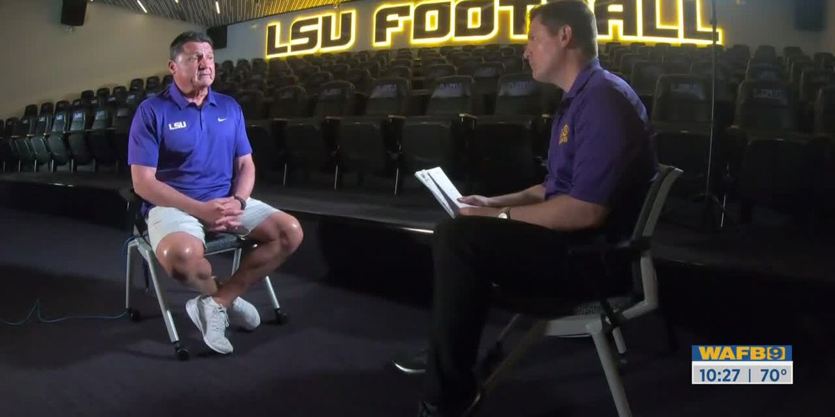 EXCLUSIVE: Coach O explains how LSU football is coping with shutdown of spring practice amid coronavirus outbreak