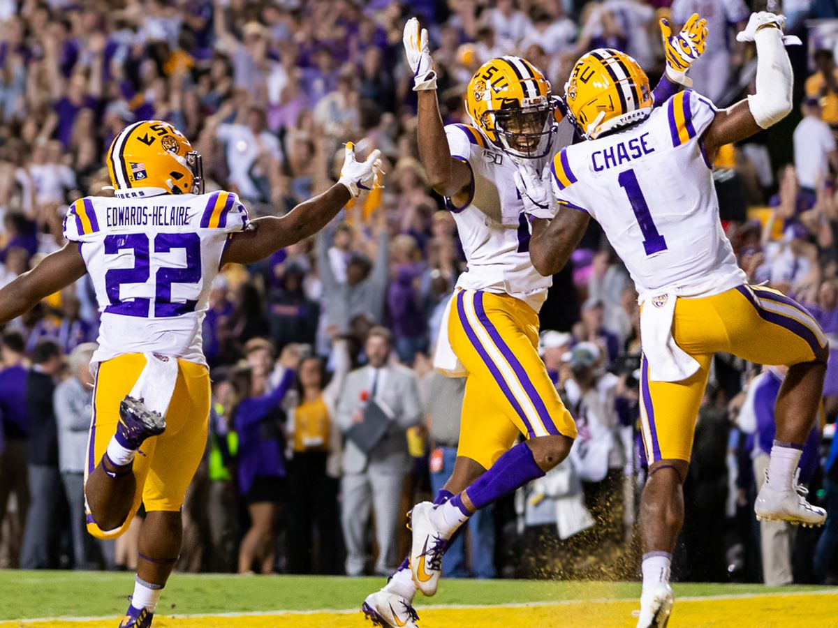 LSU holds down No. 1 spot in College Football Playoff rankings