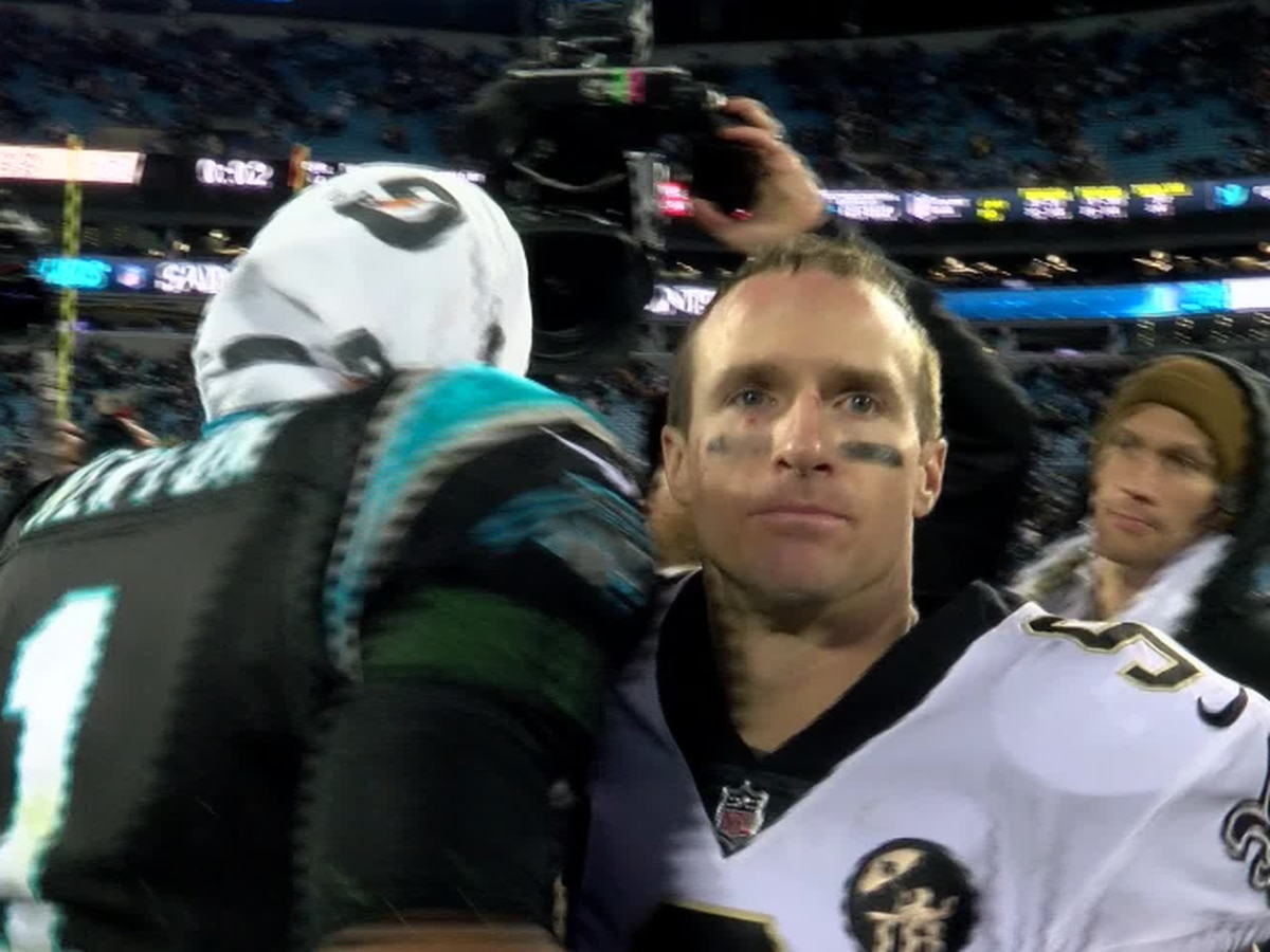 Fans: Did Cam Newton shake Drew Brees' hand after the game?