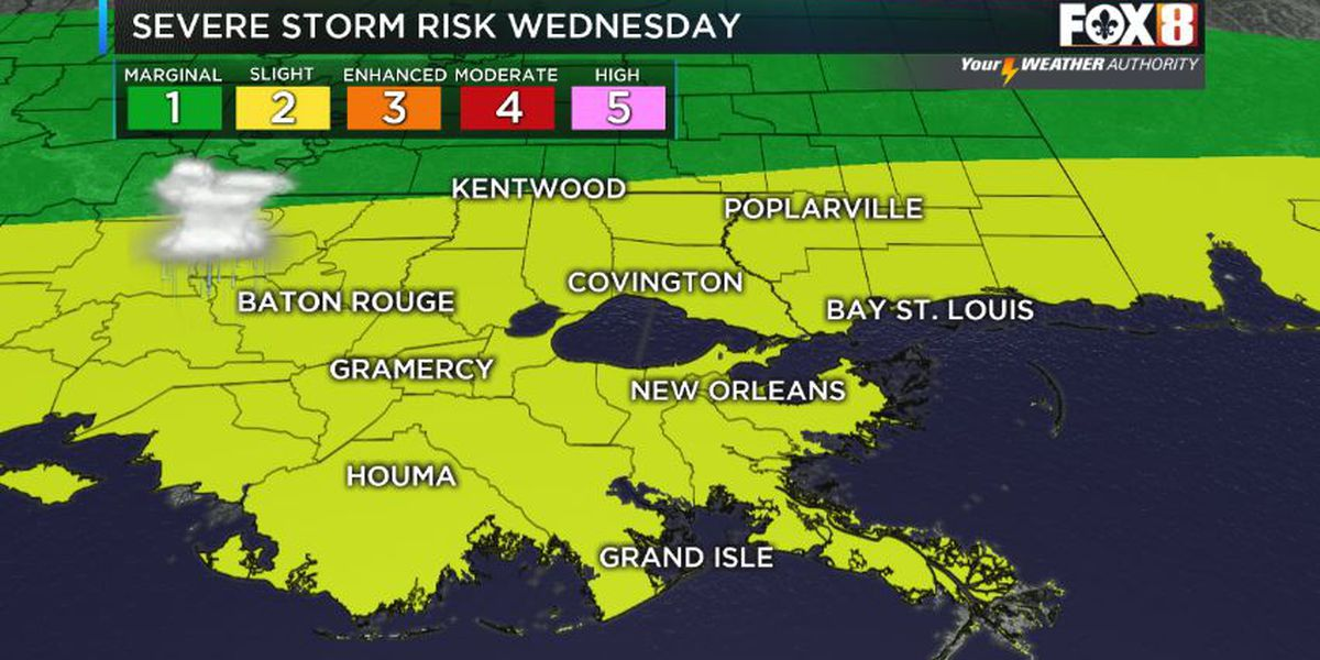 Severe threat for Wednesday