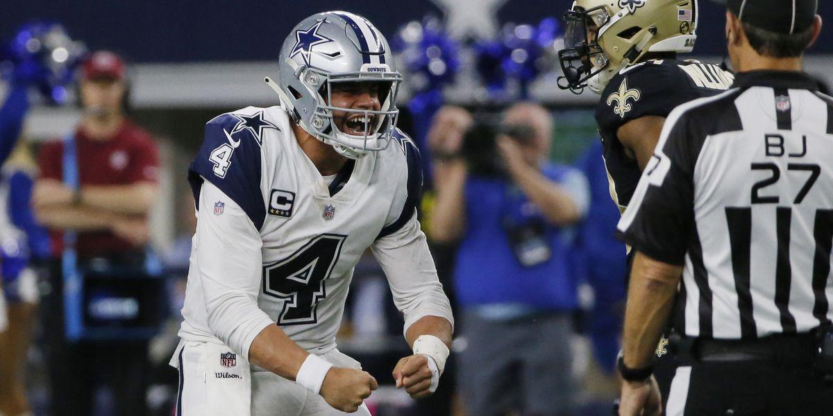 Cowboys stifle Brees, end Saints' 10-game win streak, 13-10