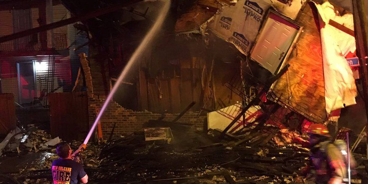 Neighborhood grocery store collapses after four-alarm fire
