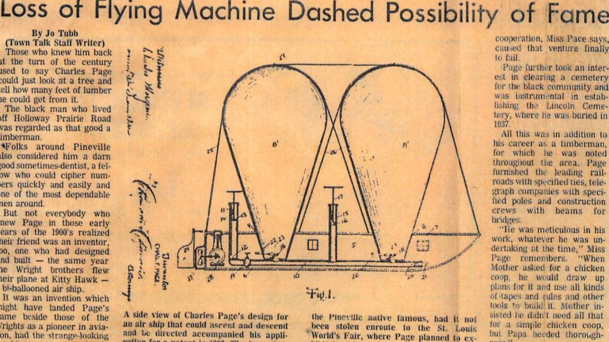 Heart of Louisiana: Charles Page's airship