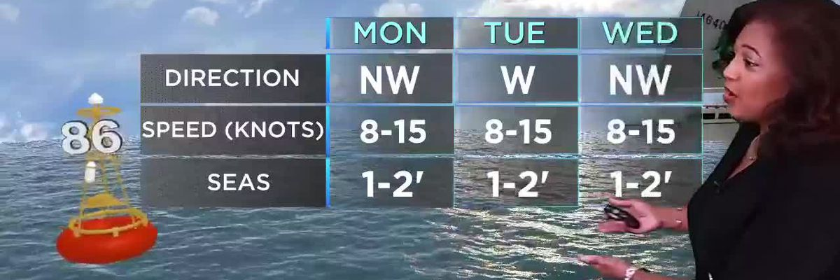 Nicondra: Drier air for the week ahead