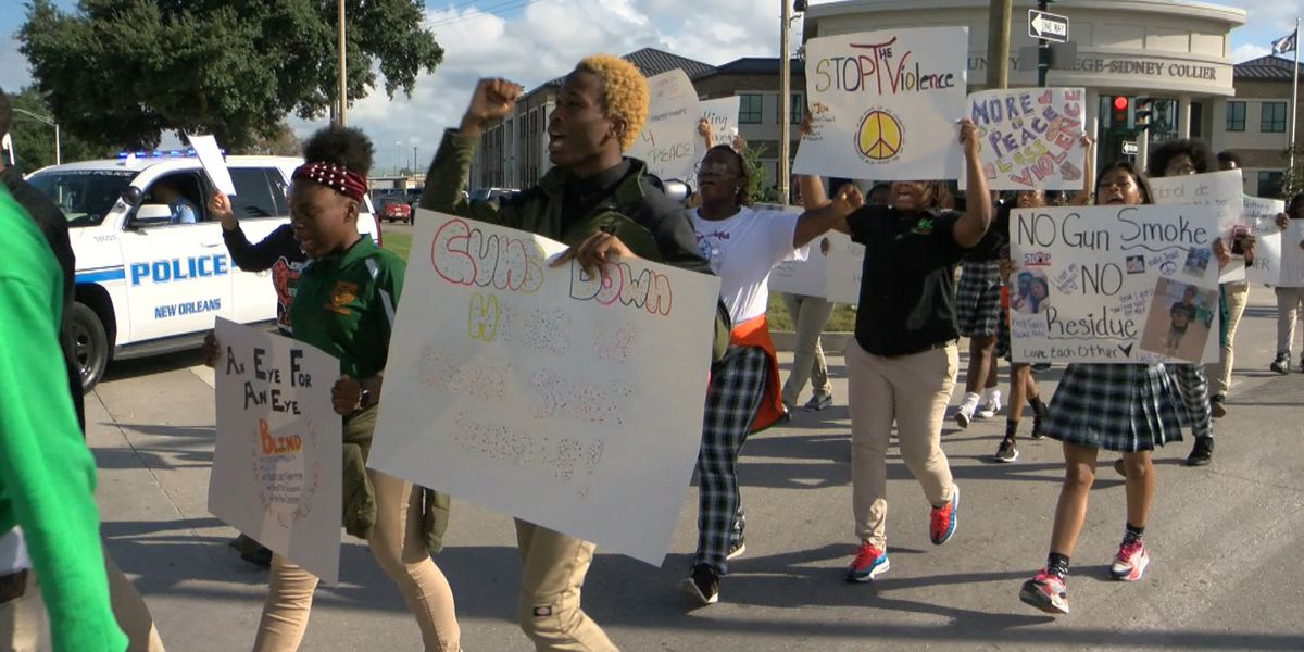 Carver High School students walk out for peace rally after three classmates are killed