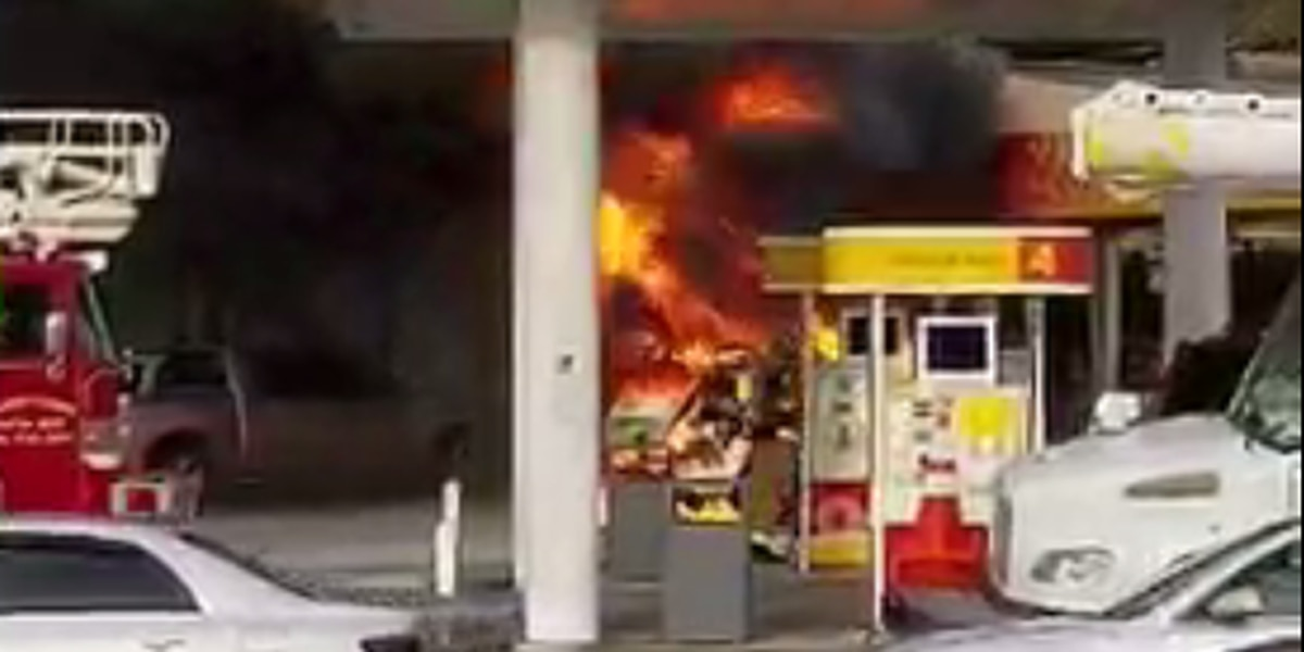 Firefighters respond to fire near gas pumps in Terrytown