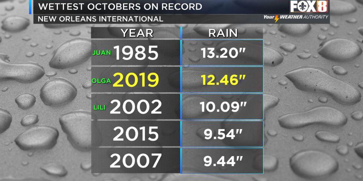 Olga brings near record wet October