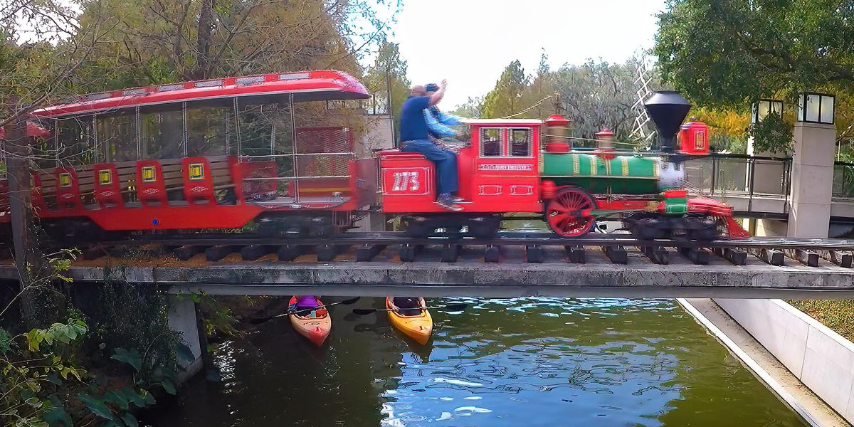 Take a spin on the City Park train