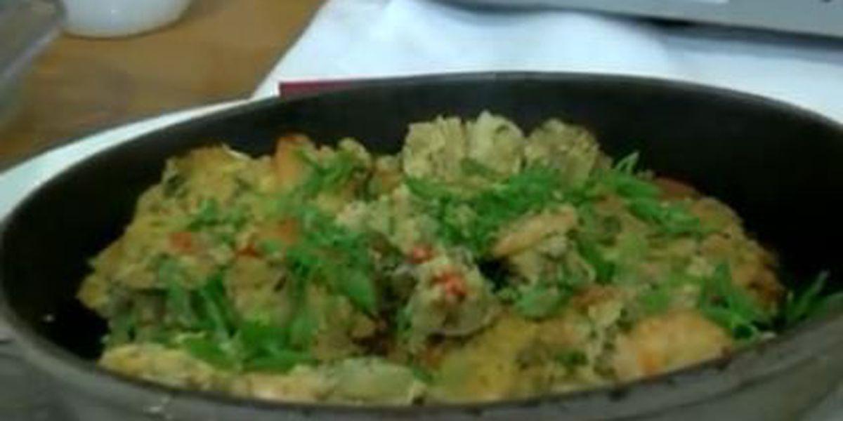 Chef John Folse: Mirliton, shrimp and cornbread dressing