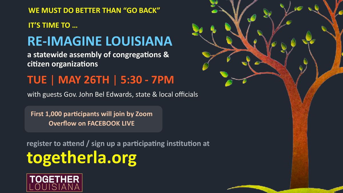 Join Gov. Edwards on Zoom, Facebook to 'Reimagine Louisiana' after pandemic
