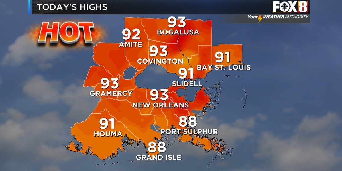 Zack: Typical summer heat, humidity with a spotty downpour possible