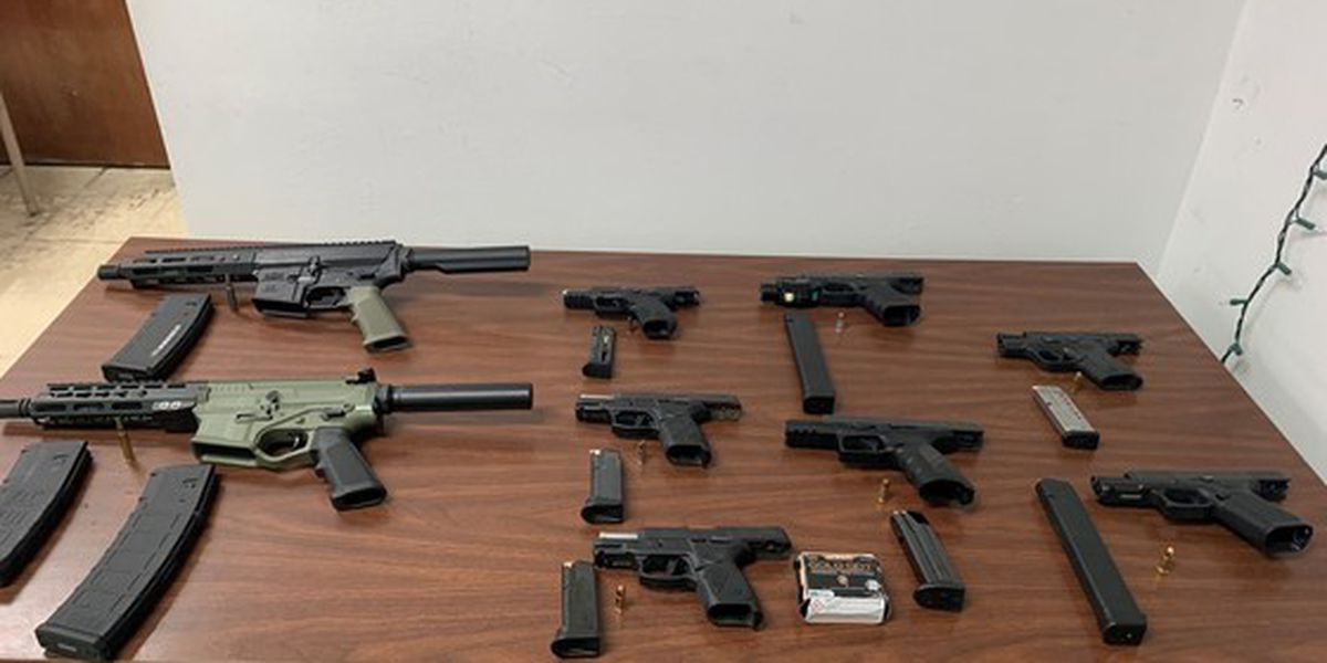 NOPD: 9 guns, including two reported stolen, confiscated from Central City home