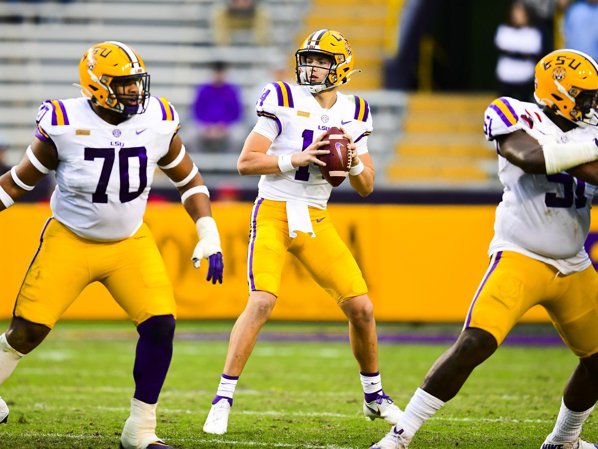 Coach Orgeron breaks down QB snap counts for the LSU spring game