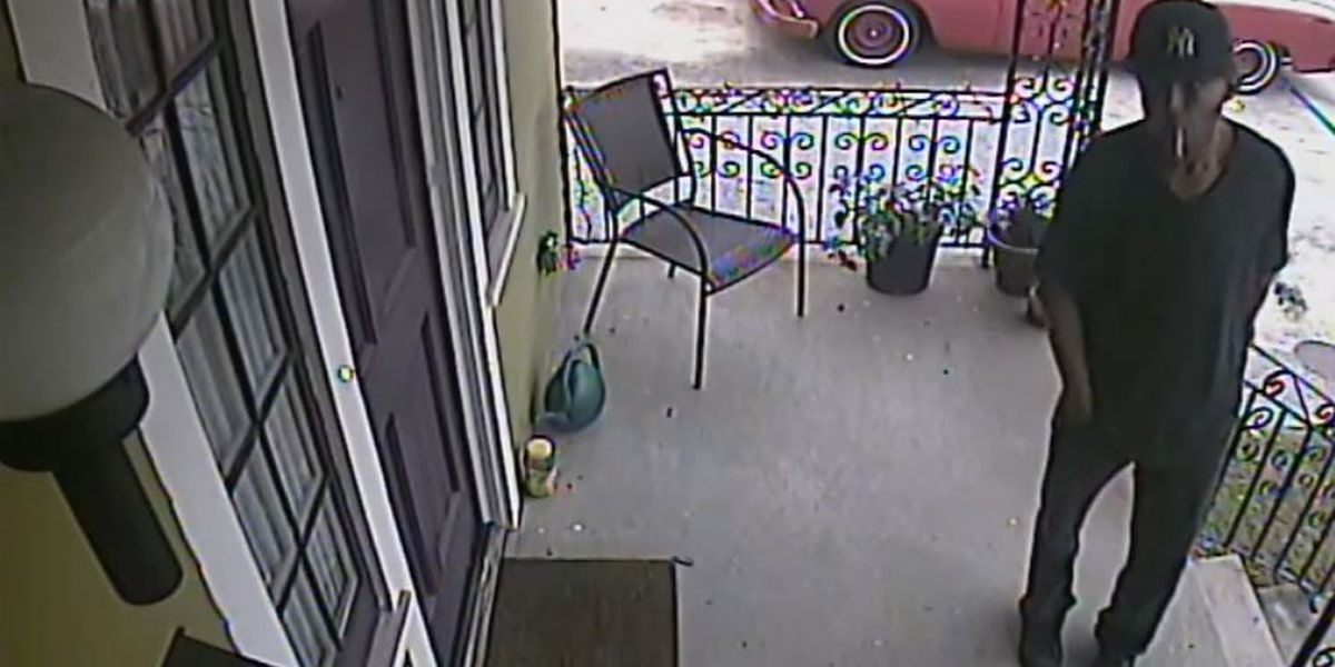 Burglar caught on camera breaking in to Mid-City home