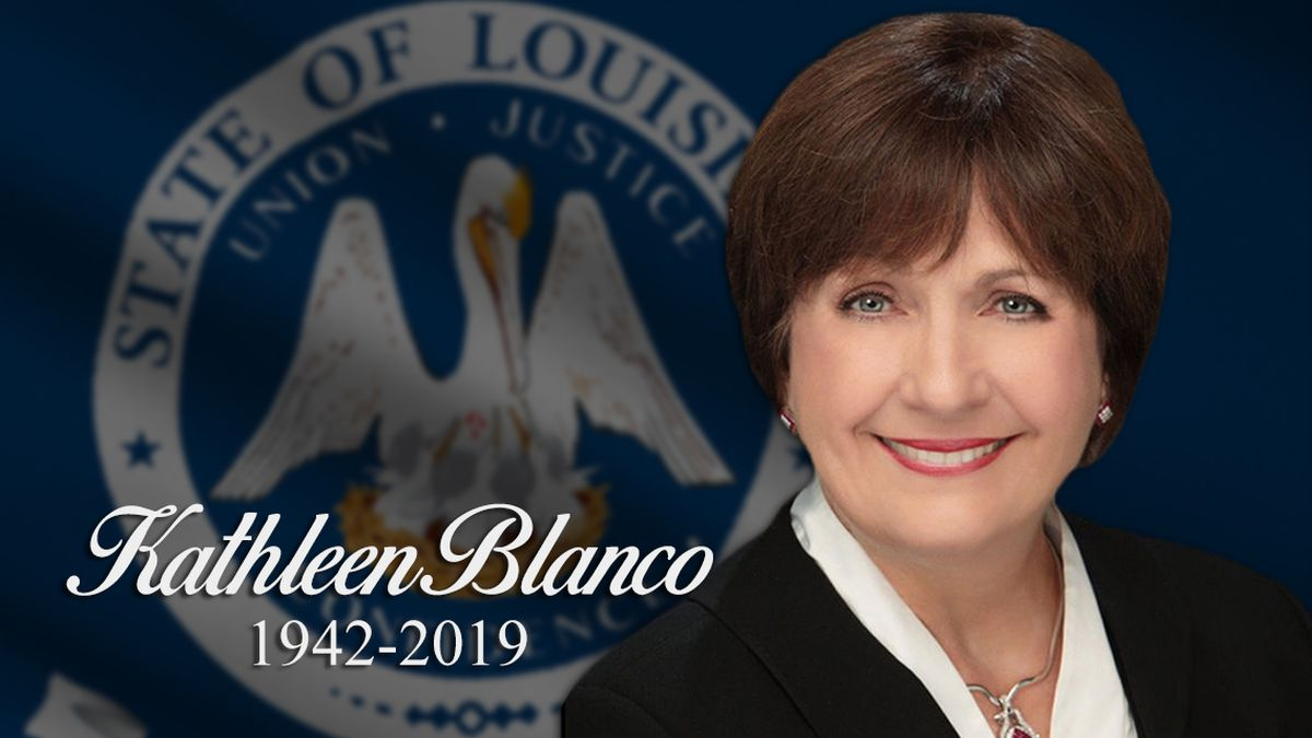 Watch: Former Governor Kathleen Blanco laid to rest