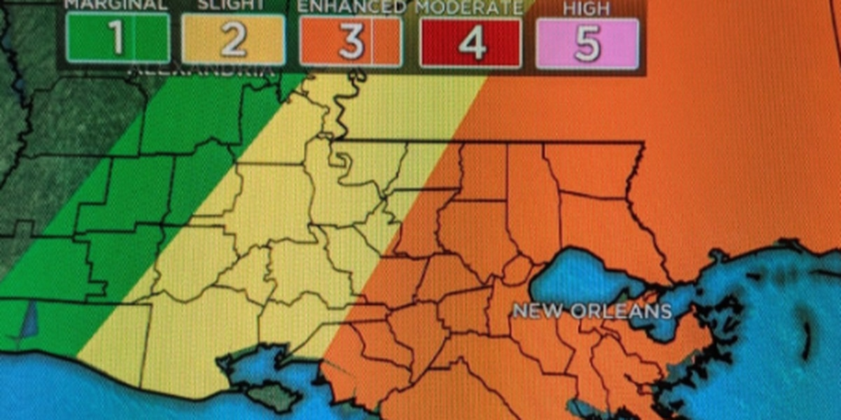 Louisiana prepares for threat of severe weather