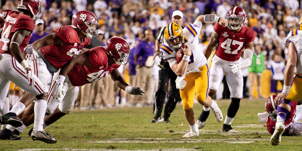 Alabama favored by 7 points over LSU