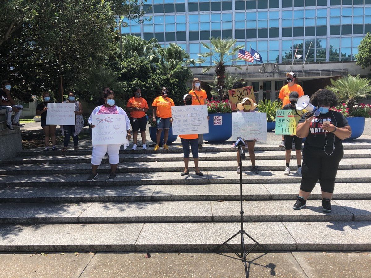 New Orleans parents rally to demand safe reopening of schools