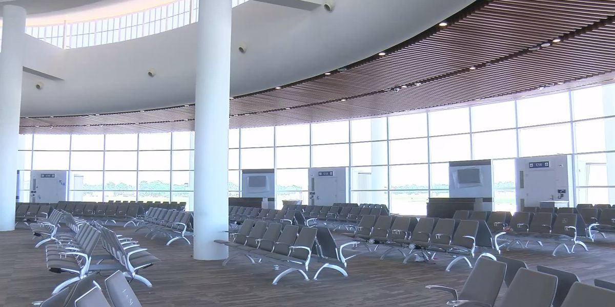 New airport terminal undergoing work on canceled opening day