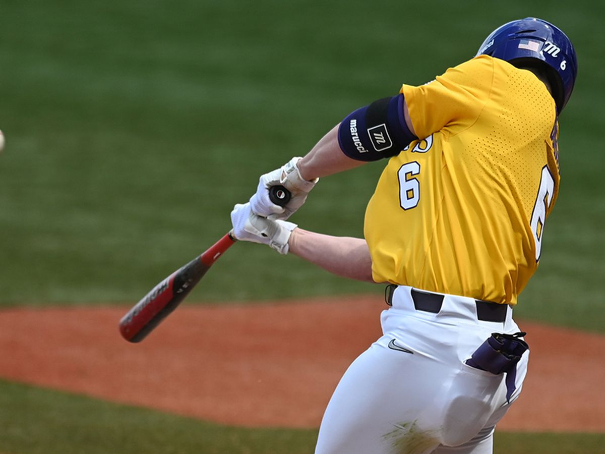 LSU batters attacking the ball, resulting in string of home runs