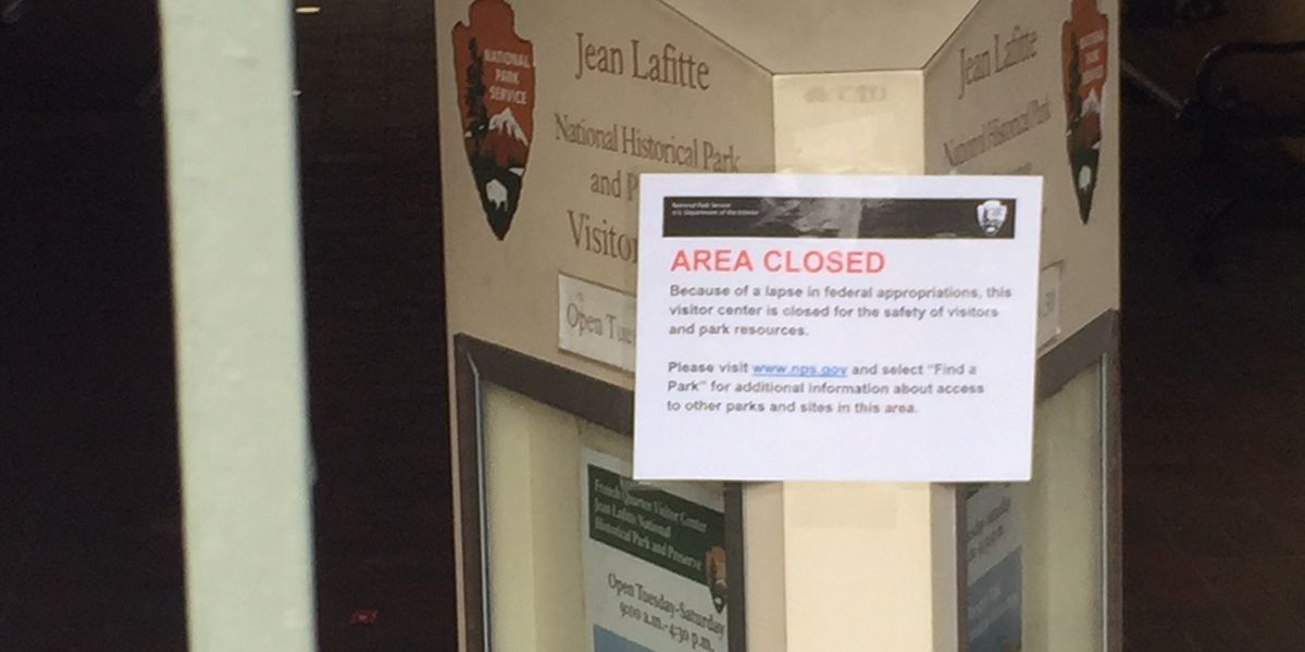 Federal shutdown closes park service facilities in New Orleans
