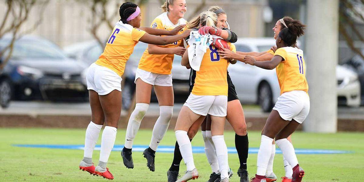 LSU soccer advances to NCAA second round on PKs