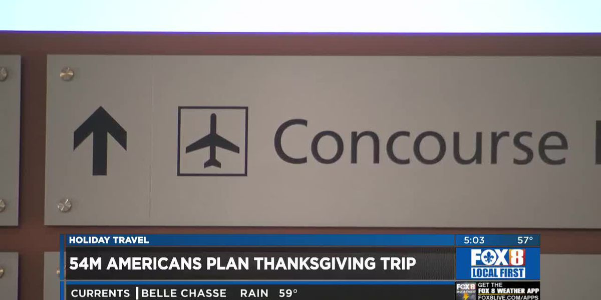 54 million expected to travel for Thanksgiving holiday