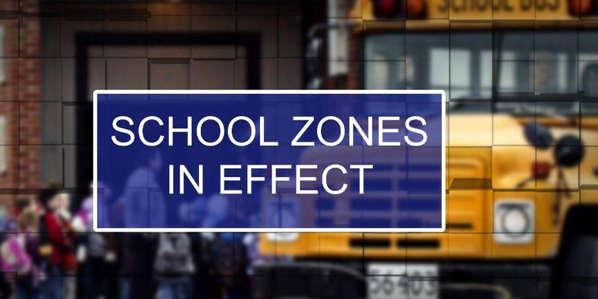 School zones in effect as students head back to school