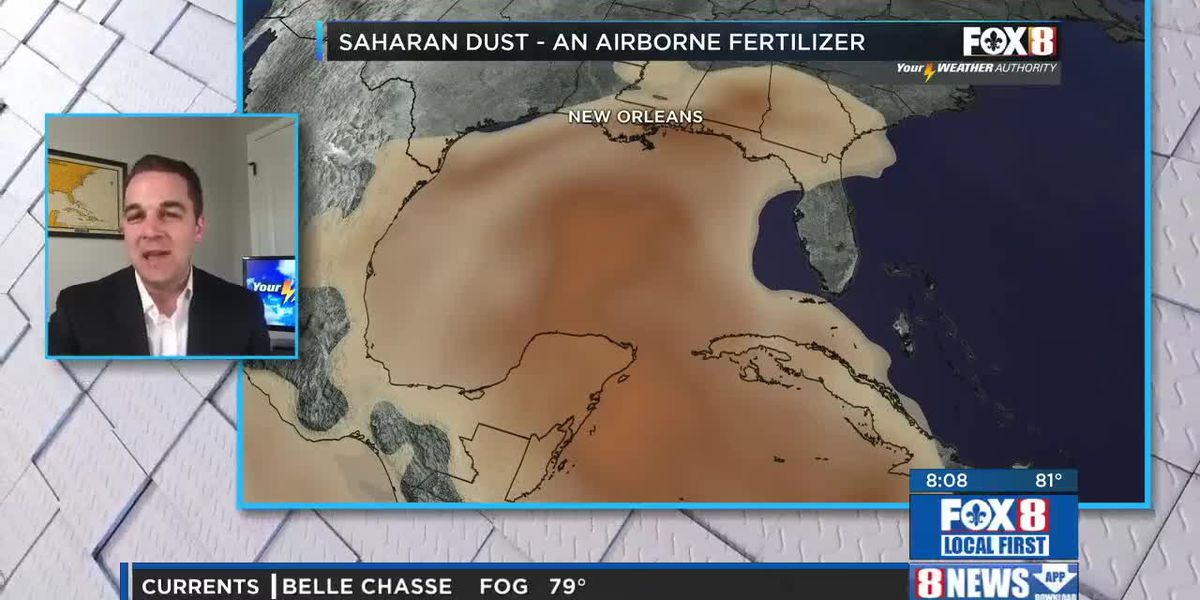 Arrival of Saharan dust could bring cool sunsets and help your plants