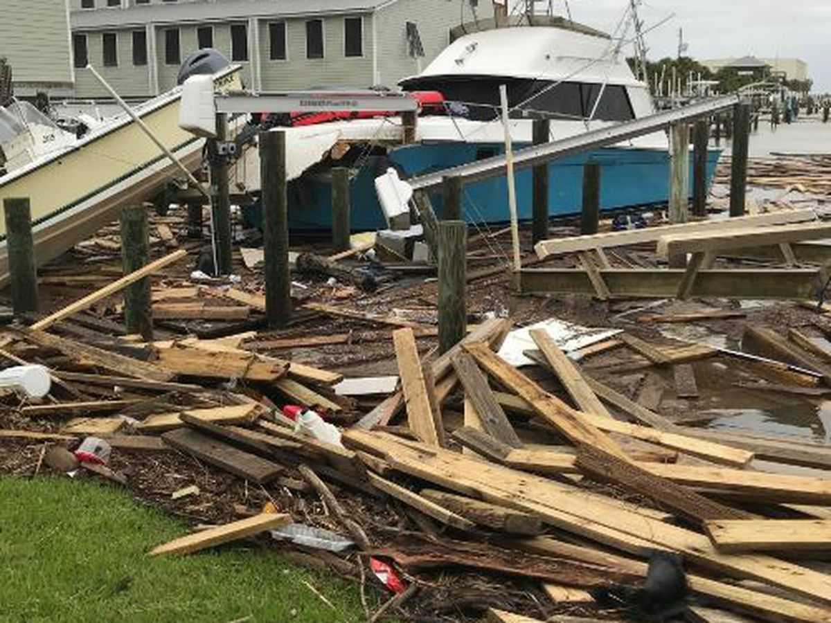 VIDEO: Hurricane Sally inflicts significant damage to Dauphin Island