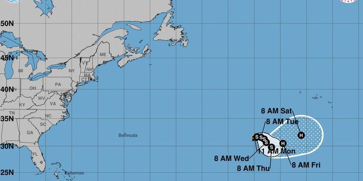 Tropical Storm Ophelia forms in the far eastern Atlantic Ocean