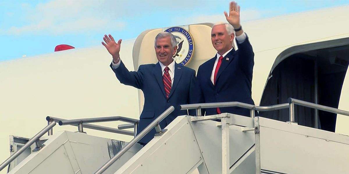 Vice President Mike Pence visits Baton Rouge to stump for Eddie Rispone