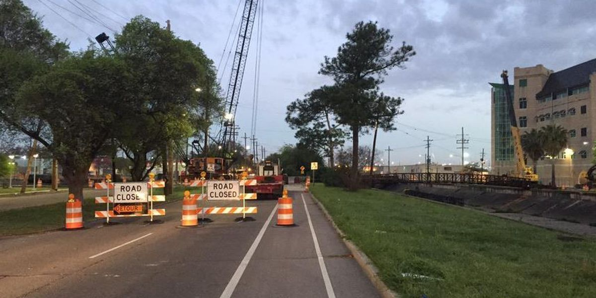 Work on pedestrian bridge means detours on busy Gert Town road