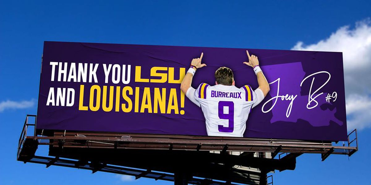 'Thank you Louisiana' billboards go up around Baton Rouge