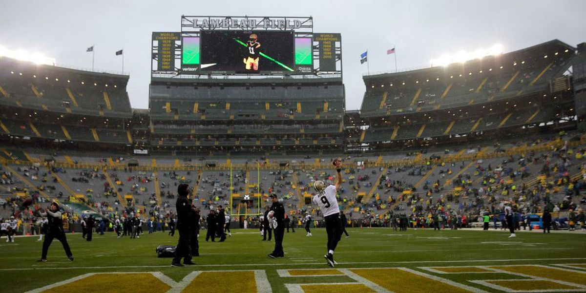 No Aaron Rodgers, no problem, Packers lead Saints at half